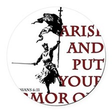 put-your-armor-on Round Car Magnet