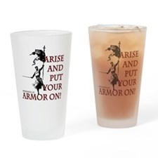 put-your-armor-on Drinking Glass