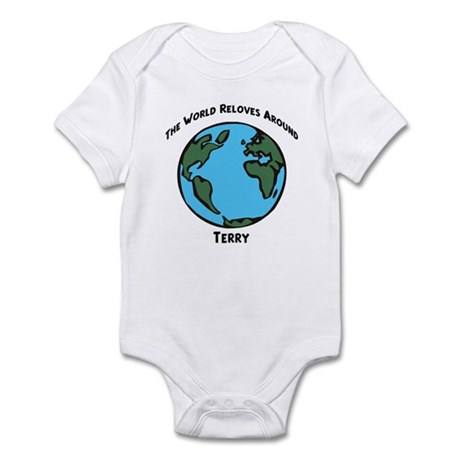 Revolves around Terry Infant Bodysuit