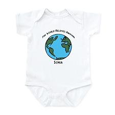 Revolves around Sonia Infant Bodysuit