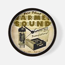 Valve Amplifier sq Wall Clock