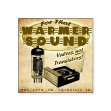 "Valve Amplifier sq Square Sticker 3"" x 3"""