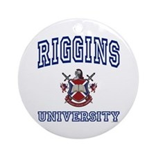 RIGGINS University Ornament (Round)