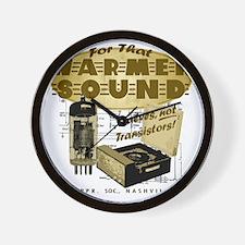 Valve Amplifier Wall Clock