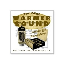 "Valve Amplifier Square Sticker 3"" x 3"""