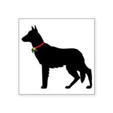 "German Shepard Christmas or Square Sticker 3"" x 3"""