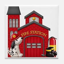 Fireman copy Tile Coaster