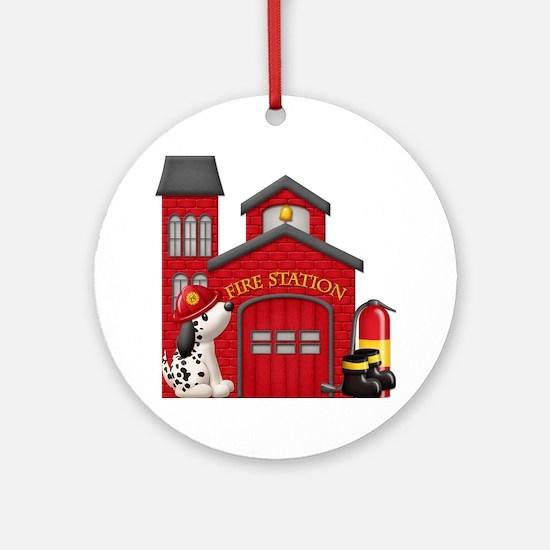 Fireman copy Round Ornament