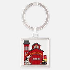 Fireman copy Square Keychain