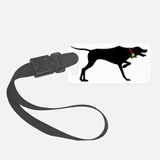 Pointer Christmas or Holiday Sil Luggage Tag