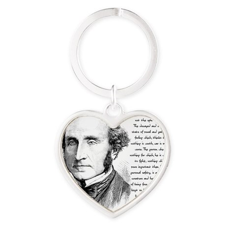 John Stuart Mill Heart Keychain