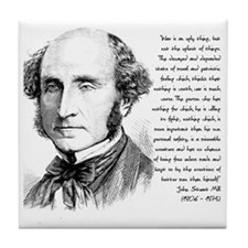 John Stuart Mill Tile Coaster