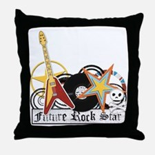 rockstar copy Throw Pillow