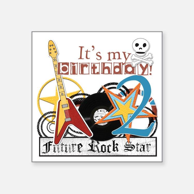 "rockstar-2y copy Square Sticker 3"" x 3"""