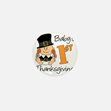 Babys First Thanksgiving Mini Button