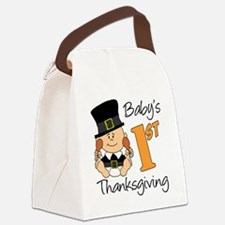 Babys First Thanksgiving Canvas Lunch Bag