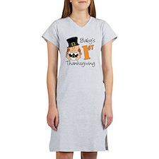 Babys First Thanksgiving Women's Nightshirt