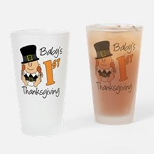 Babys First Thanksgiving Drinking Glass