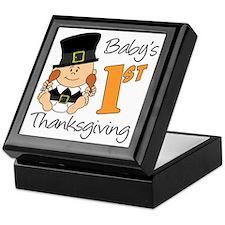 Babys First Thanksgiving Keepsake Box