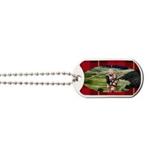 Bagpiper oval tartan Dog Tags