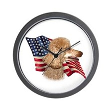 Poodle (Apr) Flag Wall Clock