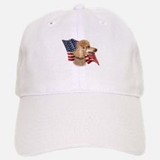Poodle (Apr) Flag Baseball Baseball Cap
