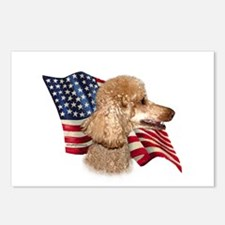 Poodle (Apr) Flag Postcards (Package of 8)