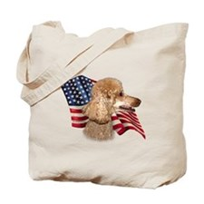 Poodle (Apr) Flag Tote Bag