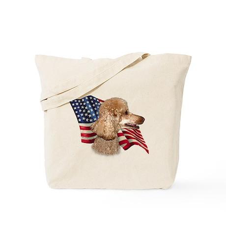 Poodle (Apr) Flag Tote Bag