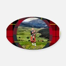 British Isles Cruise large plaid Oval Car Magnet