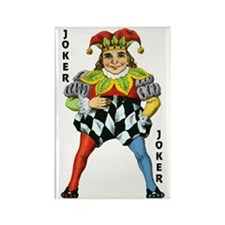 Vintage Court Jester Wacky Joker Rectangle Magnet