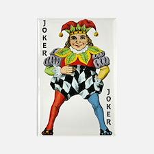 Vintage Court Jester Wacky Joker Rectangle Magnet