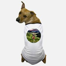 Heather in full bloom -round  for Brit Dog T-Shirt