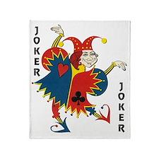 Vintage Dancing Wacky Joker Throw Blanket