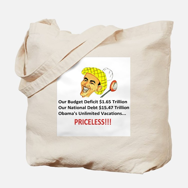 Priceless Button Style Tote Bag