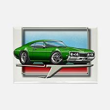 Green_68_Cutlass Rectangle Magnet