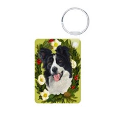Seasonal Border Collie Keychains