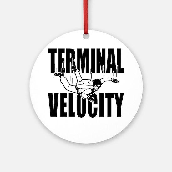 terminalvelocity_black Round Ornament