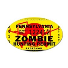 zombie_permit_fullsize Wall Decal