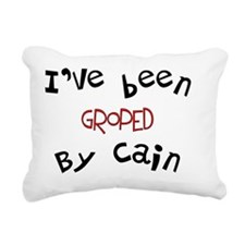 Groped by Cain Rectangular Canvas Pillow