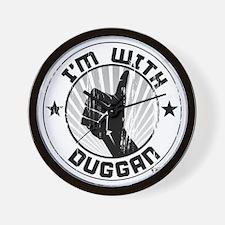im_with_duggan_dark Wall Clock