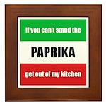Paprika Lover Framed Tile