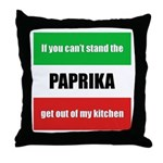 Paprika Lover Throw Pillow
