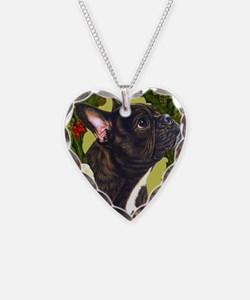 Seasonal French Bull Necklace Heart Charm