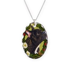 Seasonal French Bull Necklace Oval Charm