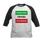 Paprika Lover Kids Baseball Jersey