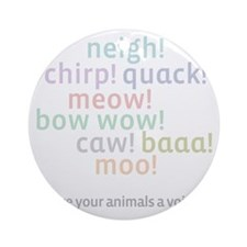 am w_neighchirp_wh Round Ornament