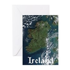 Ireland Via Satelite Greeting Cards (Pk of 10)