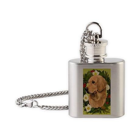 Seasonal Gold Ret Flask Necklace