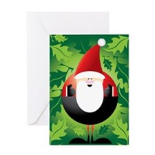 SantaElfPuzzle Greeting Card
